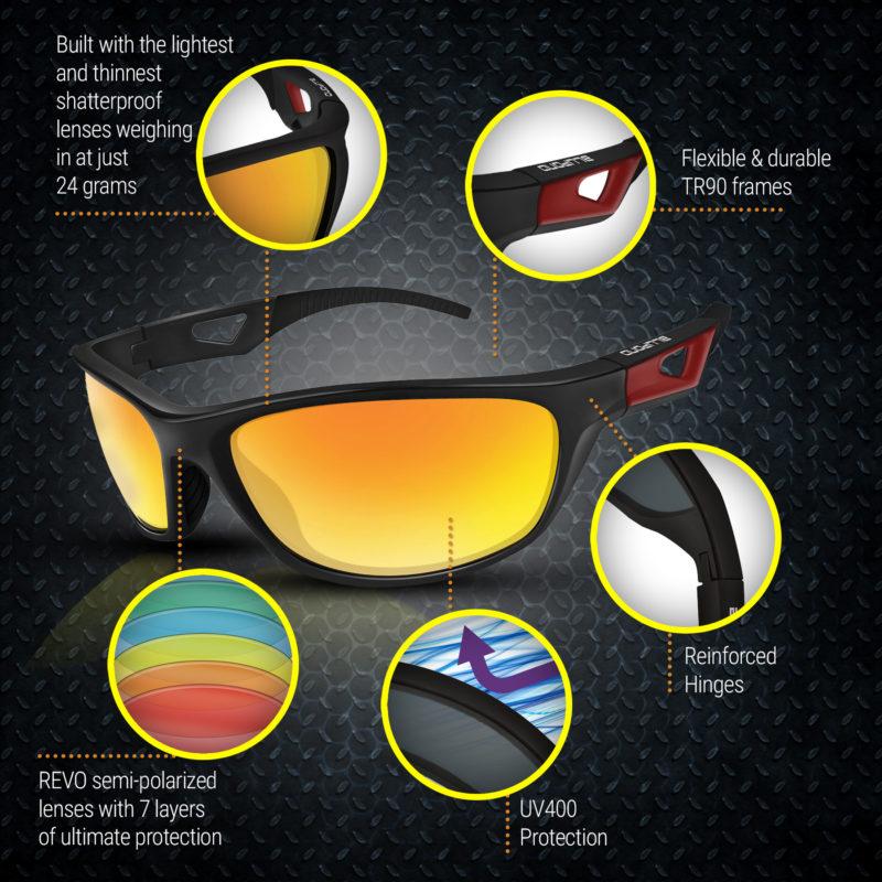 Sports Sunglasses Blupond Scout Orange (4)