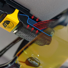 safe clip for sunglasses and glasses on car